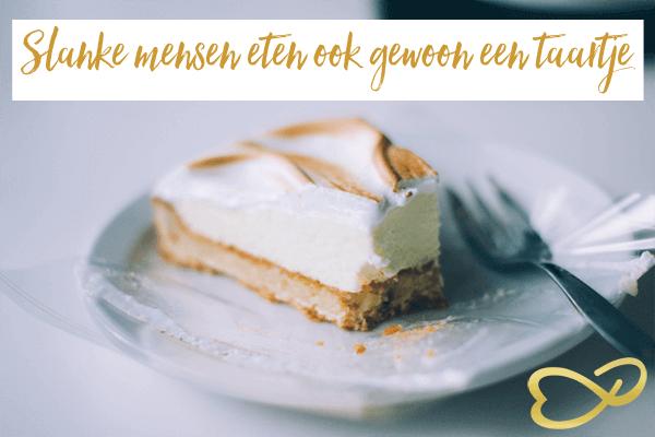 Slanke mensen eten ook 'gewoon' een taartje
