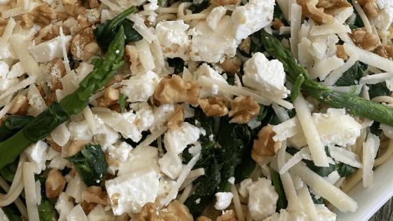 groene pasta recept
